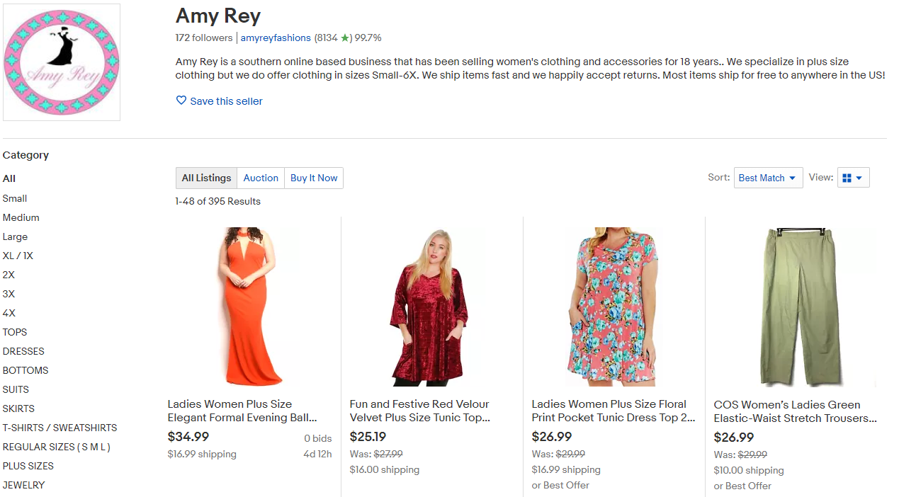 Amy Rey Storefront